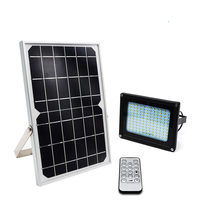Waterproof solar powered remote control outdoor garden 120 led 3.7V 10000mah solar flood light