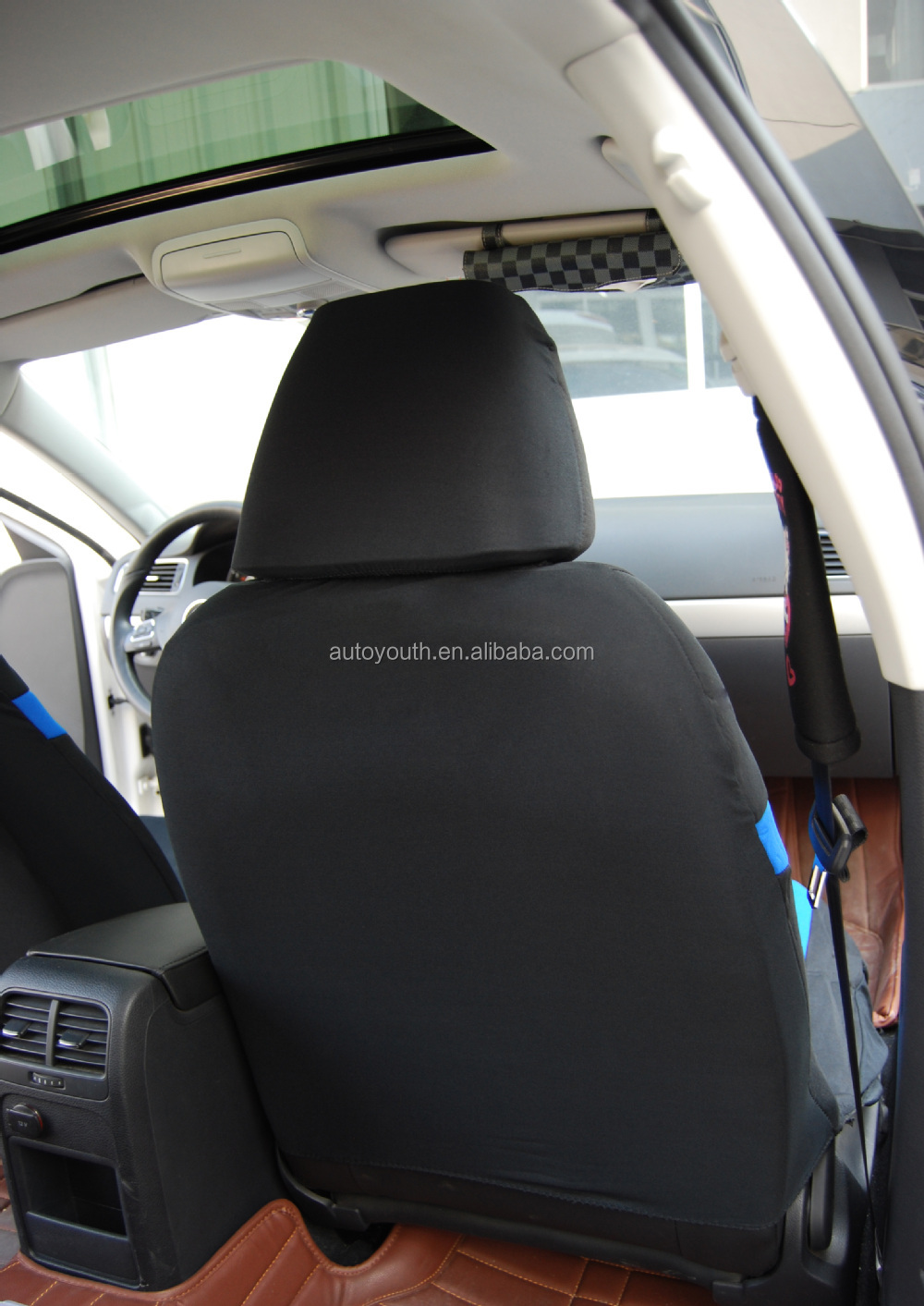 Funny Blue And Black Bucket Car Seat Cover For Car
