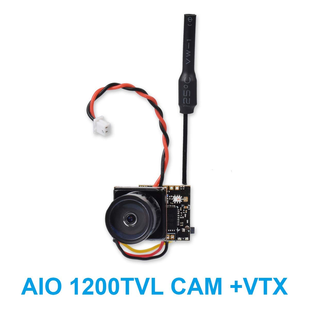 """BETAFPV 1200TVL FPV AIO Camera with OSD 25mW 48CH FPV Transmitter VTX 1/3"""" CMOS Sensor Support Smart Audio for Tiny Whoop Racing Drone"""
