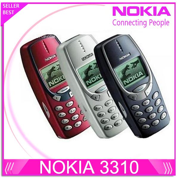 SG Post Free Shipping Full set original  3310 unlocked GSM mobile phone with russian polish language