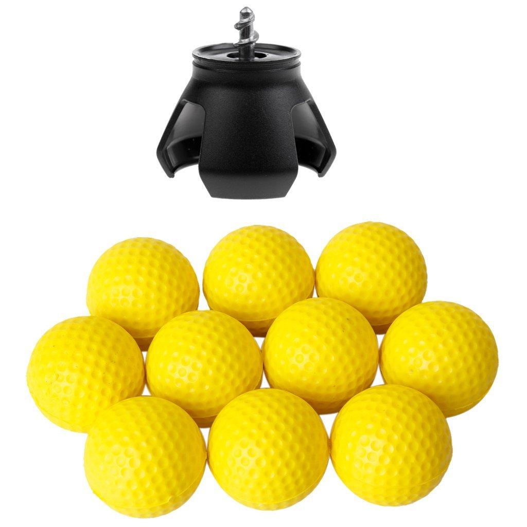 Dovewill 10pcs PU Golf Ball Training Soft Foam Practice Balls + Golf Ball Pick Up
