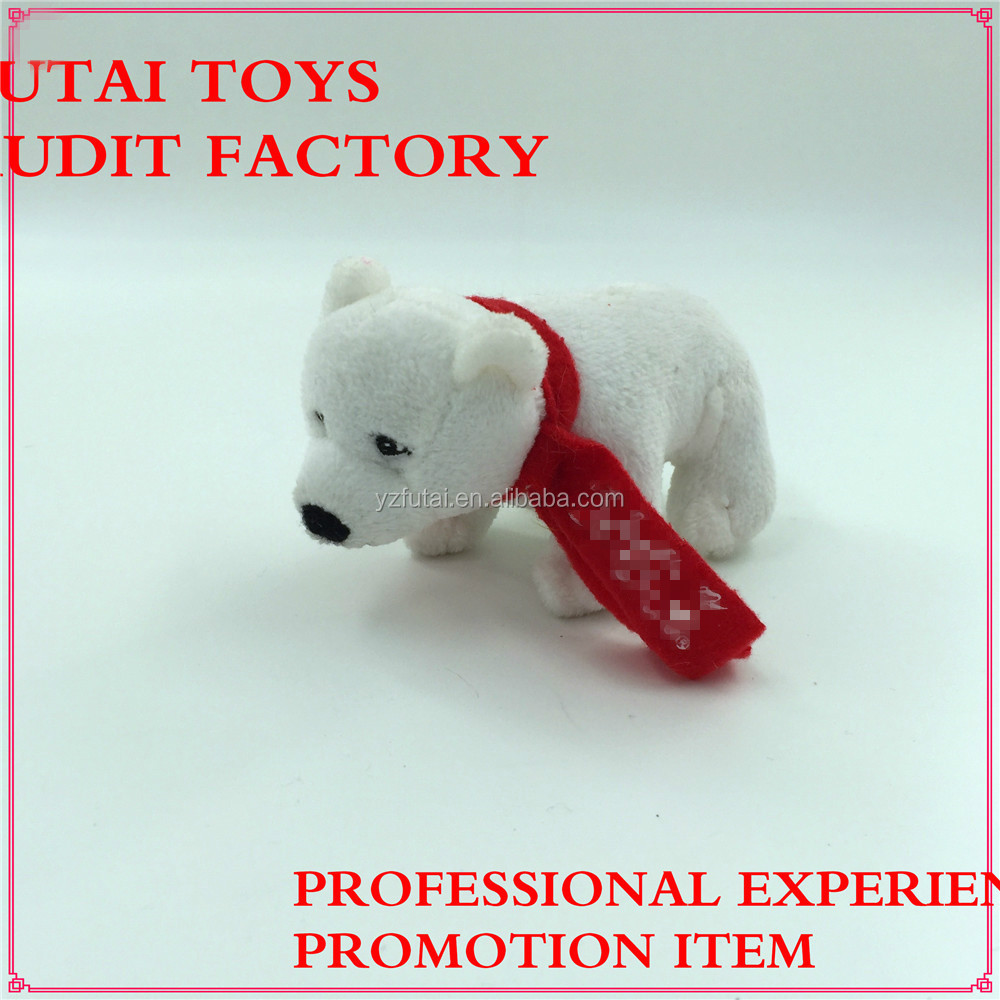 sedex audit factory plush toys standing polar bear with scarf for coke promotion