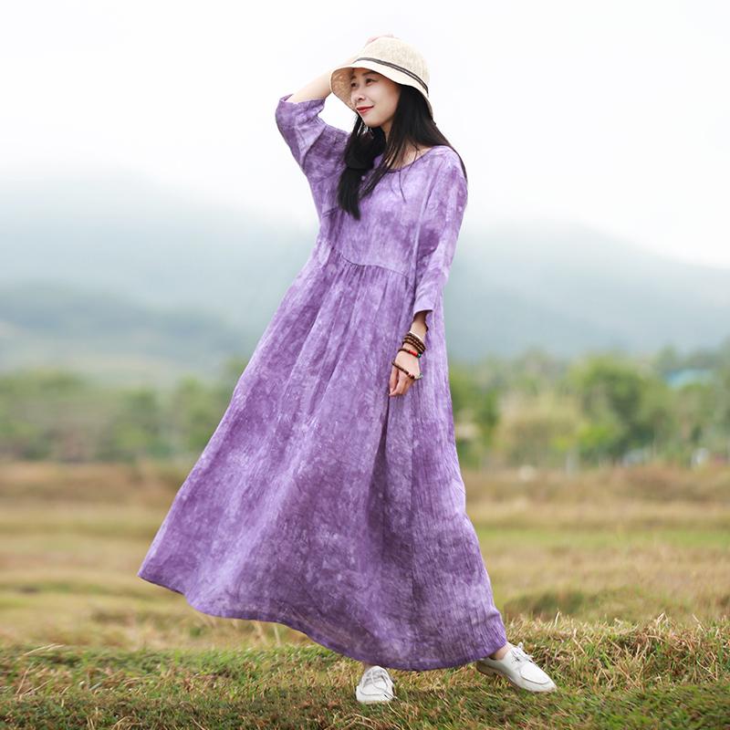 Venta al por mayor vestidos de color violeta-Compre online los ...