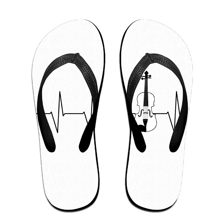 39c244f4f Get Quotations · Tailing Flip Flops Heartbeat Violin Unisex Trendy Print  Slippers Beach Sandal