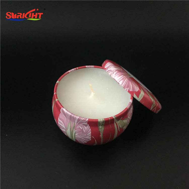 Custom Print SPA Best Promotion Gift Branded Fragrance Metal Holder Tin Candle
