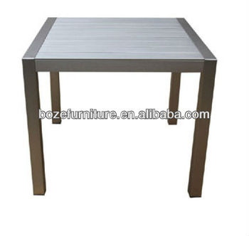 Plastic Wood Square Patio Dining Table