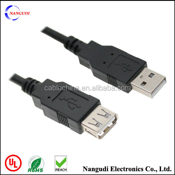 USB charger cable extender A male to female USB 2.0 extension cable