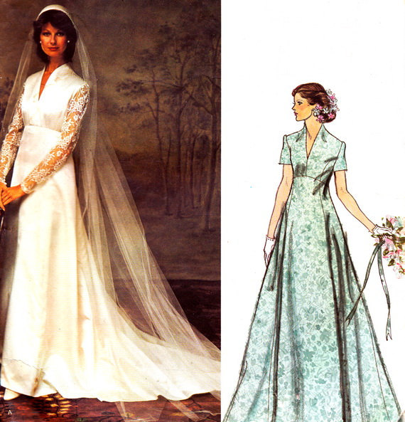 Empire Waist Maternity Wedding Dresses Vintage Sewing