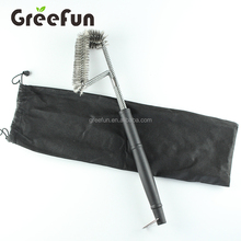 High Quality 18 Inch 3 in 1 Grill Brush Cleaner With Long Handle , Custom Logo 3 Head Barbeque Grills Brush Cleaning Tools