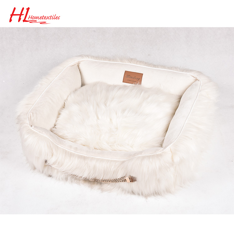 Professional Manufacture OKTEX-100 Popular China Pet Product Plush Pet Bed