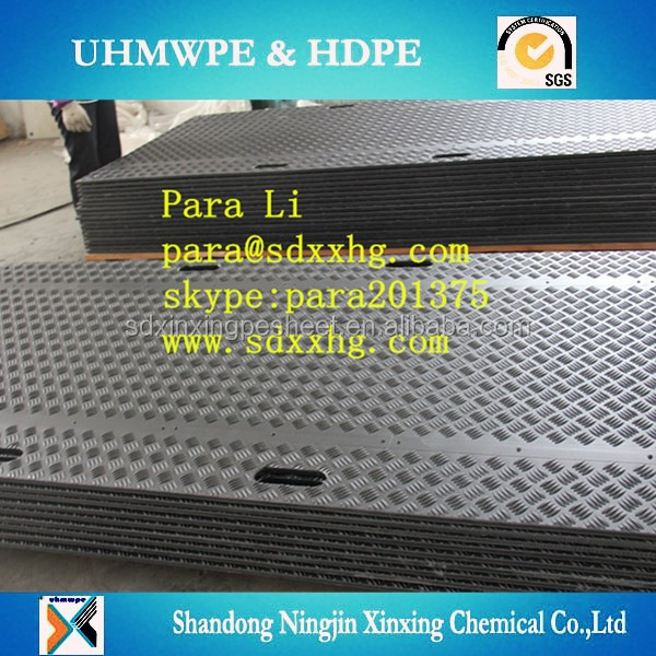 HDPE construction track road mat/ Ground Protection Mats/temporary road truck matt