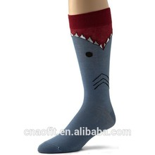 Made Design Logo Knit Custom Wholesale Novelty Shark Socks