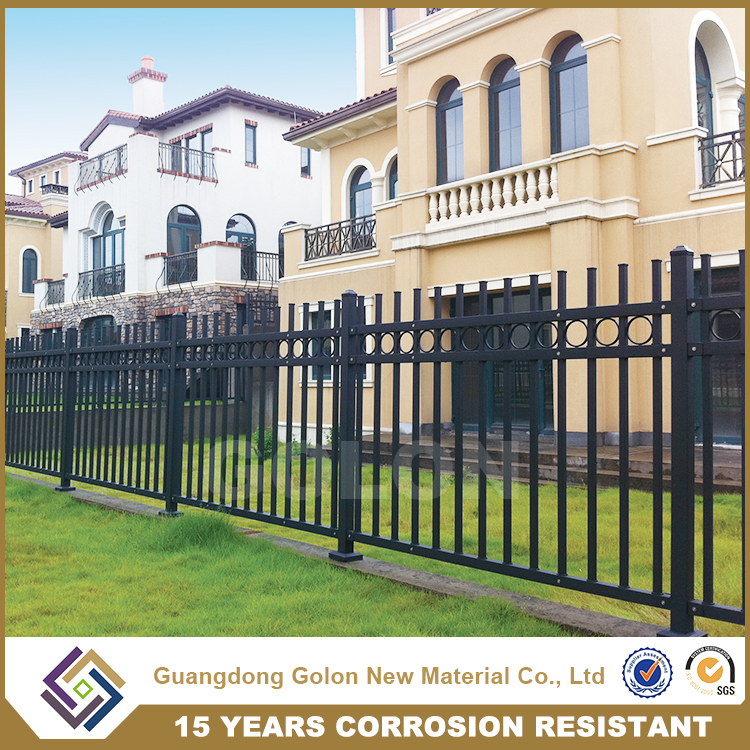 Best Selling Decorative galvanized steel pool fencing for sale, used privacy fence, wrought iron fence ornaments
