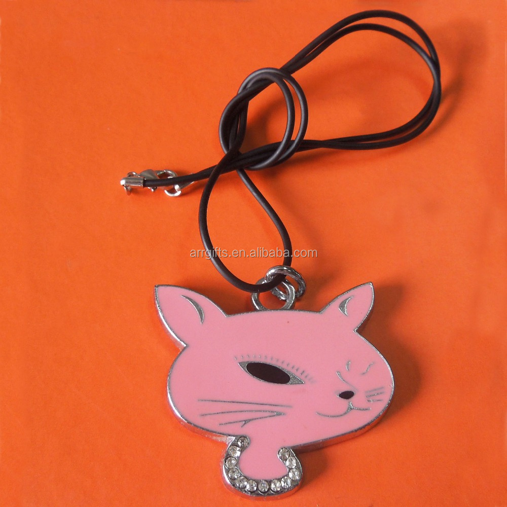 cute fox shaped die cut promotion gifts metal phone strap charms