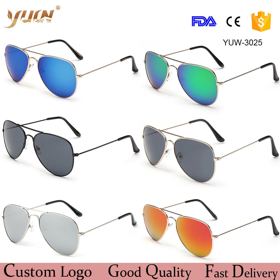 Wholesale cheap fashion aviator sunglasses 2017 women/men classic aviation <strong>sun</strong> glasses 17 colors available