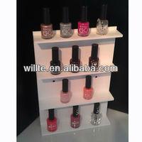 Hang on the wall pink acrylic nail polish display stand