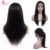 Lace Front Wig New Fashion Stock Cheap 130% Density Brazilian Virgin Human Hair Straight Swiss Lace Combs Adjustable Bands