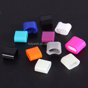 Promotional plastic snap button oem wristband slide lock