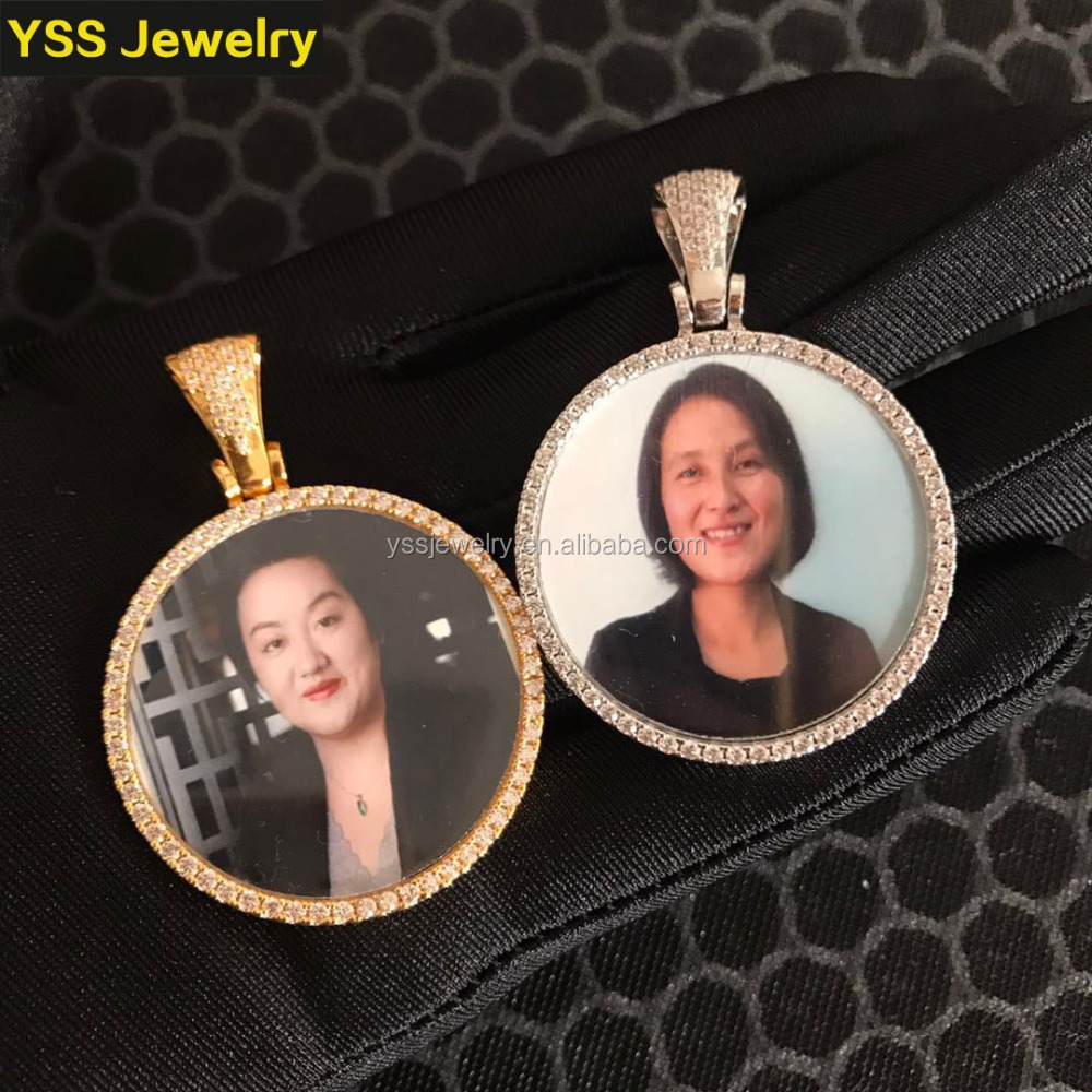 Custom Photo <strong>pendant</strong> Ice out 0.2 Micro gold plated Custom Photo <strong>Pendant</strong> Whole Sale High Quality Female Jewelry Photo <strong>Pendant</strong>