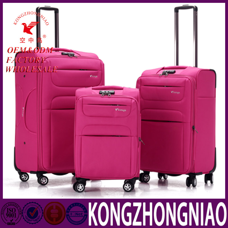 High Quality customize Cheap travel trolley Hot sale luggage set 20 24 28 suitcase best soft trolley luggage