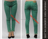 ladies straight pants wholesale colofull skinny jeans denim jeans