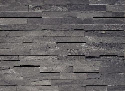 Pizarra de color negro chapa de piedra para el exterior y for Piedra natural para exterior