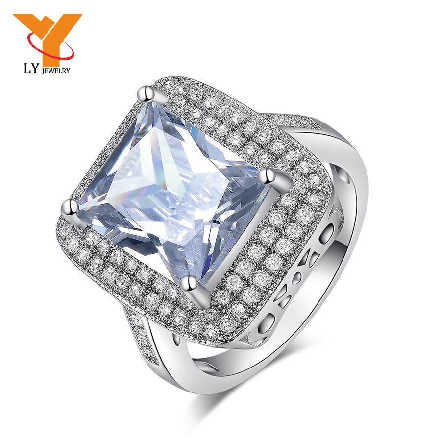 Big Wedding Rings Best Photos: Luxury Wedding Ring 925 Sterling Silver Cz Diamond Jewelry