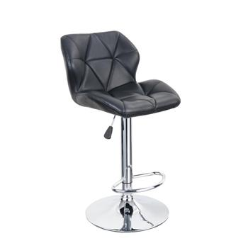 Modern black PU leather adjustable bar stool & counter stool