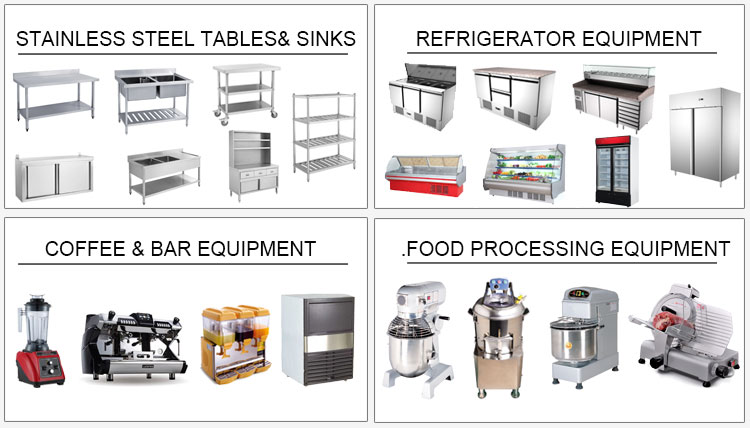 Industrial Quality Stainless Steel Commercial Hotel Restaurant Kitchen Equipment List Supplies
