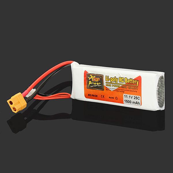 High Quality ZOP Power 3S 11.1V 1500MAH 25C Battery XT60 Plug Rechargeable Lipo