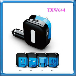 2014 New Product 2 in 1 Car And Wall Charger For Samsung Car Charger