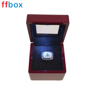 Wholesale wooden luxury championship ring display box with led light