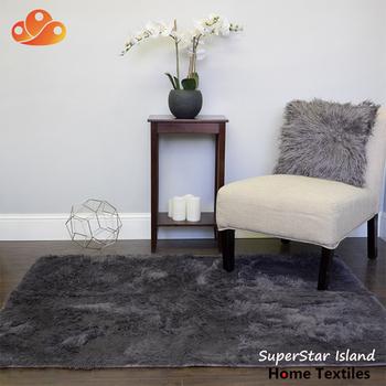 Plush Faux Fur Solid Color Rectangle Floor Sheepskin Area Rug 4