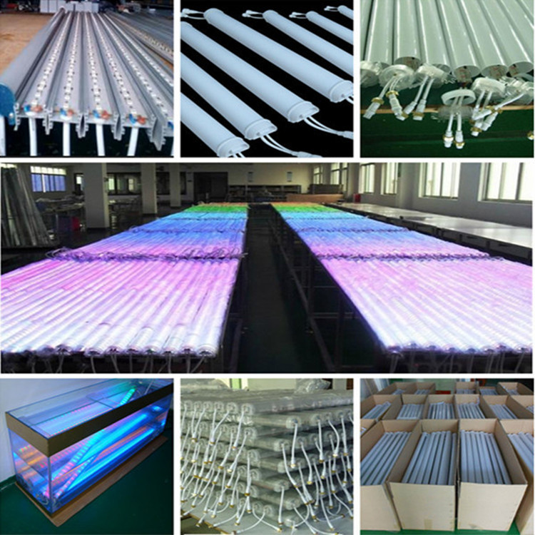 Waterproof outside usage IP65 3D rgb led fluorescent tube