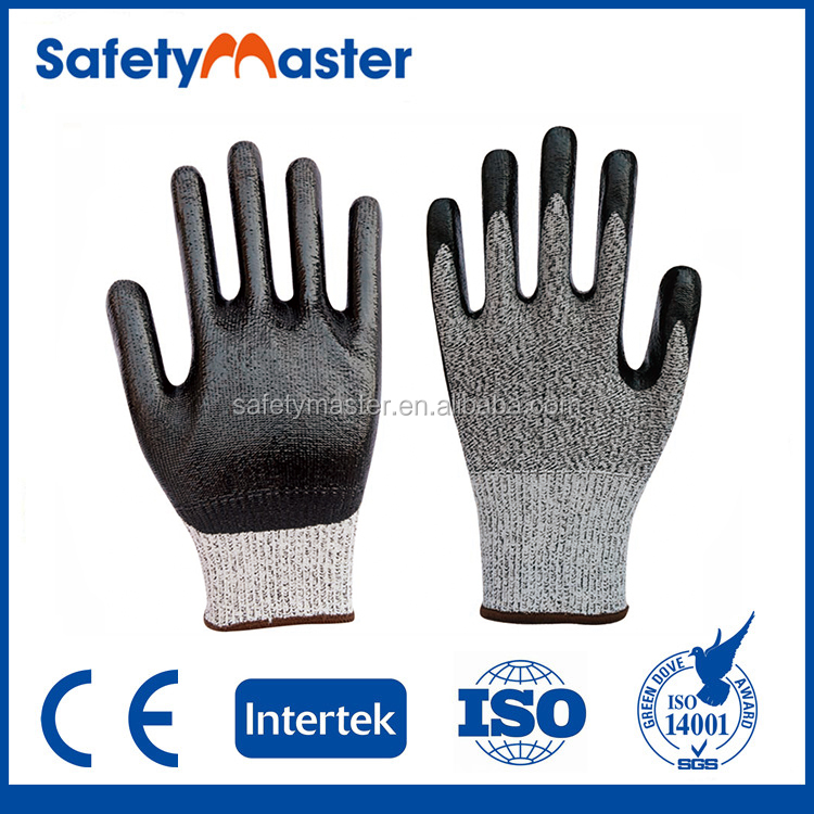 Safetymaster cheap labor working natural cotton gloves with latex