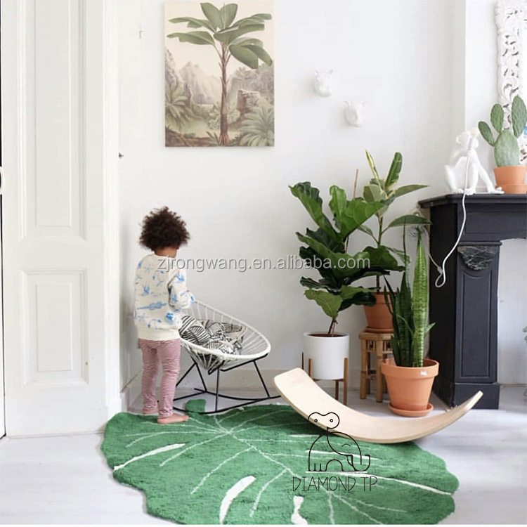 High Quality Leaf Shaped Baby Play Game Cotton Floor Mat