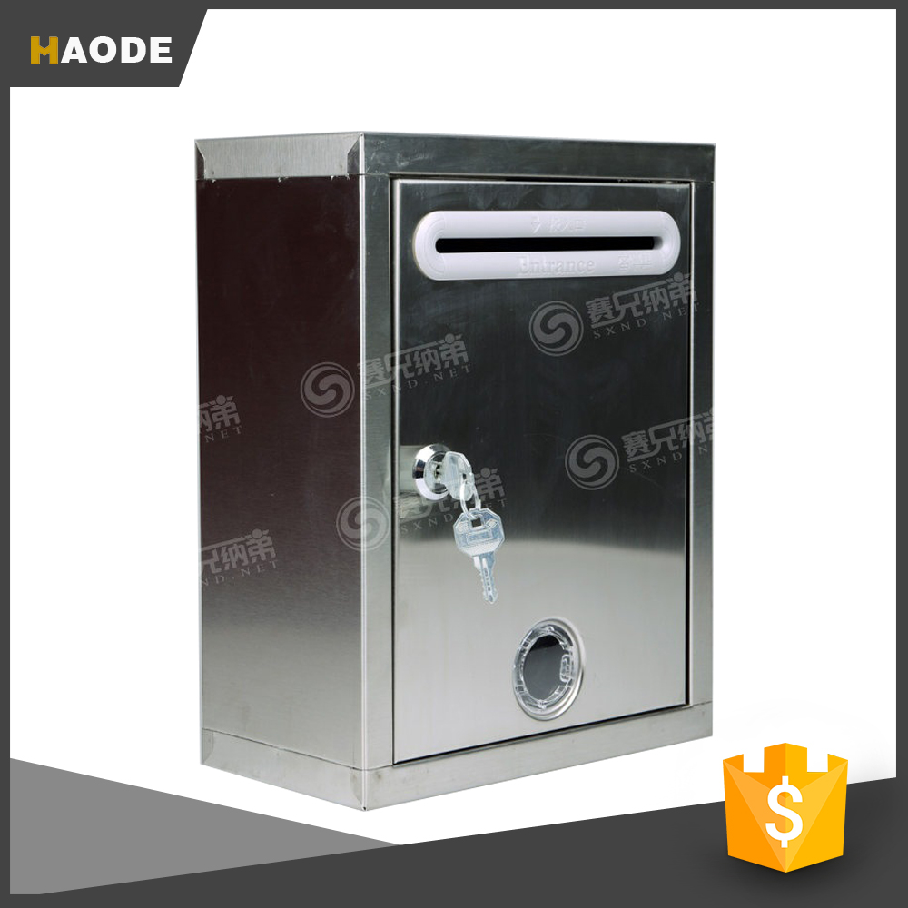 Heavy Duty Mailbox Wall or Post Mount Stainless Steel Mail Boxes