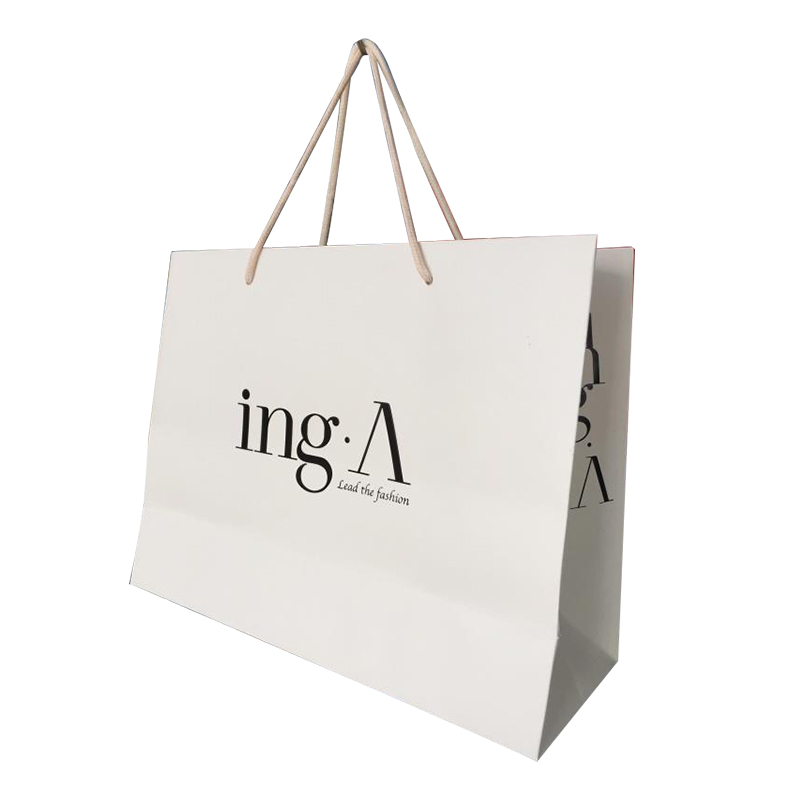Customized white paper bag/packaging gift bags GuangZhou manufacturer