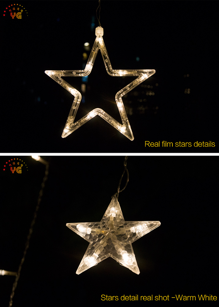 Outdoor street decorative led christmas star string light home decor outdoor street decorative led christmas star string light home decor curtain icicle light aloadofball Gallery