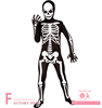 Novelties Adult halloween Costume Skeleton Man Bone Skin Suit