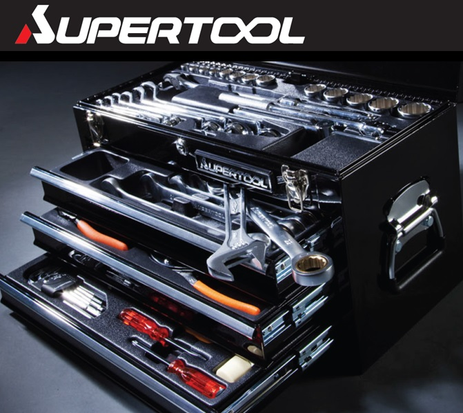 61edca3c2dc SUPERTOOL High-effciency Mechanic Tool box set for Professional with metal  case
