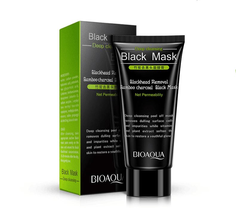 BIOAQUA bamboo charcoal, black head, acne propolis mask and hyaluronic acid film paste