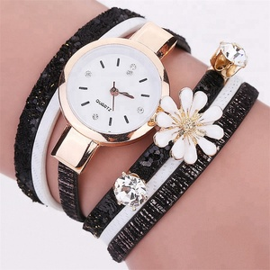 5 Colors Fashion Luxury Wrap Lady Bracelet Watches Women Casual Flower Wristwatches Relojes Mujer Montre Femme WW095