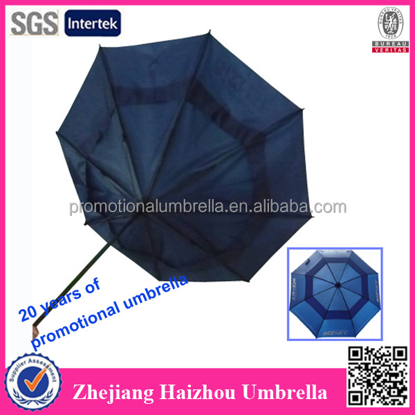 Parasol de golf double face coupe-vent