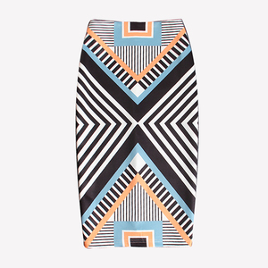 Buyer show Midi Women's Spring Skirt High Waist Bodycon Tube Straw Printed Pencil Skirts For Women's Female