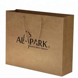 Custom Logo Brown Kraft Paper Bags with PP Rope Handle Top Quality kraft paper bag