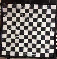 White and black marble no joints mosaic tile