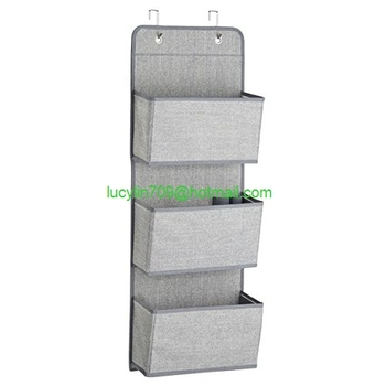 Wall Mount/Over The Door Fabric Office Supplies Storage Organizer For  Notebooks, Planners,