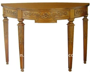 Sct 003 Indonesia Natural Wood Color Half Round Console Table Antique Wall Product On Alibaba