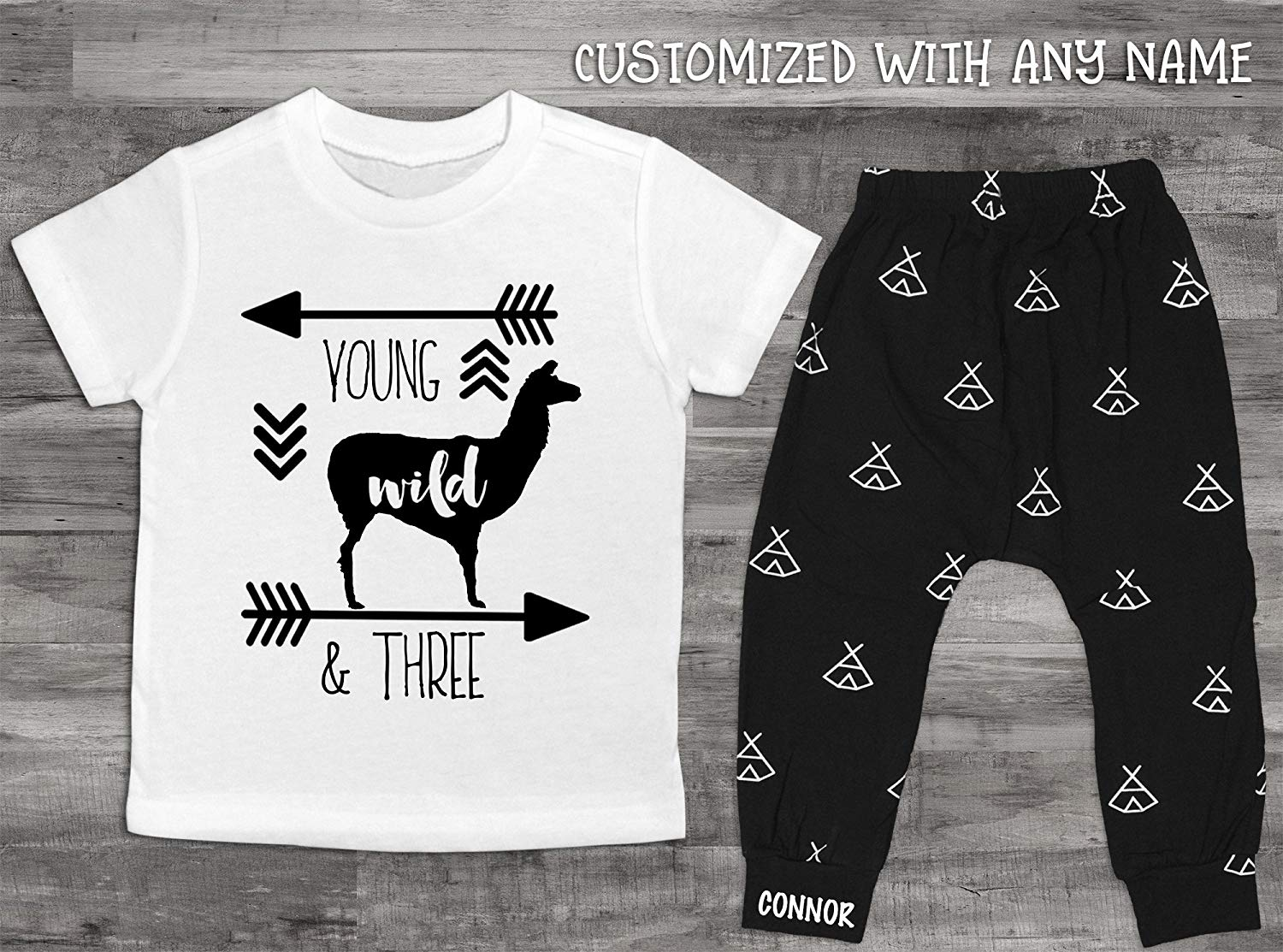 Get Quotations Baby Boy Clothes Young Wild And Three Birthday Shirt 3rd Set